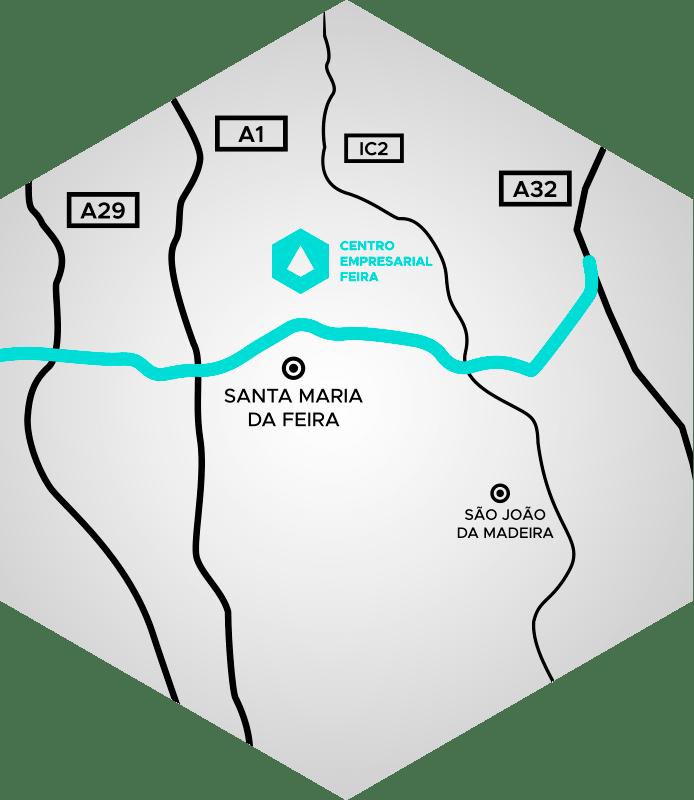Localização Estratégica - Centro Empresarial Feira (CEF)